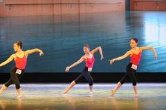 Κλασσικό εκπαιδευτικό μάθημα χορού μπαλέτου εκπαιδεύω-βασικό Στοκ εικόνα με δικαίωμα ελεύθερης χρήσης