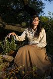 Κλασσικό κορίτσι στο contryside Στοκ Φωτογραφίες