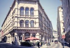 Κλασσικό παραδοσιακό εστιατόριο ύφους στη Βιέννη Στοκ Εικόνα