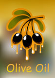 Κλαδί ελιάς και χρυσό πετρέλαιο Στοκ εικόνα με δικαίωμα ελεύθερης χρήσης