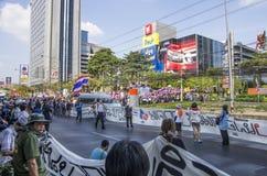 Κλείσιμο της Μπανγκόκ: Στις 14 Ιανουαρίου 2014 στοκ εικόνα με δικαίωμα ελεύθερης χρήσης