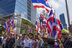 Κλείσιμο της Μπανγκόκ: Στις 14 Ιανουαρίου 2014 στοκ φωτογραφία με δικαίωμα ελεύθερης χρήσης