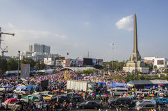 Κλείσιμο της Μπανγκόκ: Στις 13 Ιανουαρίου 2014 στοκ εικόνες με δικαίωμα ελεύθερης χρήσης
