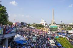 Κλείσιμο της Μπανγκόκ: Στις 13 Ιανουαρίου 2014 στοκ φωτογραφία με δικαίωμα ελεύθερης χρήσης