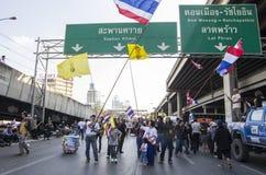 Κλείσιμο της Μπανγκόκ: Στις 13 Ιανουαρίου 2014 στοκ φωτογραφίες