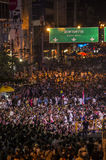 Κλείσιμο της Μπανγκόκ: Στις 13 Ιανουαρίου 2014 στοκ εικόνα με δικαίωμα ελεύθερης χρήσης