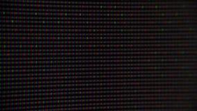 Κλείστε αυξημένος της οθόνης TV πλάσματος, TV ρολογιών απόθεμα βίντεο