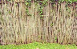 κλείστε αυξημένος του φράκτη μπαμπού στοκ εικόνα με δικαίωμα ελεύθερης χρήσης