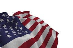 Κλείστε επάνω εμείς τη σημαία διανυσματική απεικόνιση