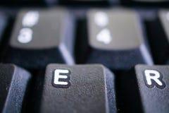 Κλείστε επάνω ενός πληκτρολογίου Στοκ Φωτογραφία