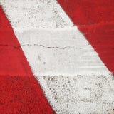 Κλείστε επάνω κόκκινος και άσπρος του οδικού χαρακτηρισμού στοκ εικόνες με δικαίωμα ελεύθερης χρήσης