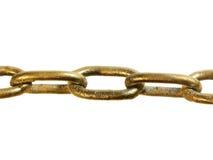 Κλείστε επάνω μιας χρυσής χρωματισμένης αλυσίδας Στοκ εικόνες με δικαίωμα ελεύθερης χρήσης