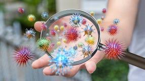 Κλείστε επάνω σε ετοιμότητα άρρωστο ατόμων μέσω της ενίσχυσης - transmittin γυαλιού απεικόνιση αποθεμάτων