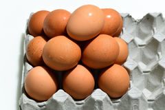 Κλείστε επάνω στο αυγό πυραμίδων Στοκ Εικόνες