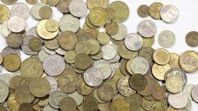Κλείστε επάνω τα νομίσματα στο χρόνος-σφάλμα απόθεμα βίντεο
