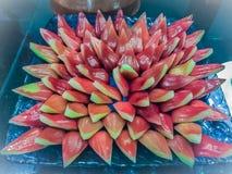 Κλείστε επάνω τεμαχισμένος αυξήθηκε μήλα ή Chomphu, ταϊλανδικά εύγευστα φρούτα τ Στοκ Φωτογραφία