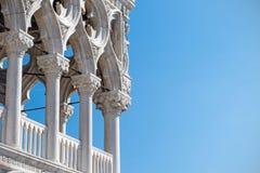 Κλείστε επάνω την άποψη του Doge ` s παλατιού στη Βενετία Στοκ εικόνες με δικαίωμα ελεύθερης χρήσης