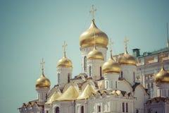 Κλείστε επάνω την άποψη Annunciation του θόλου καθεδρικών ναών Στοκ Φωτογραφίες
