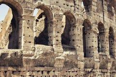 Κλείστε επάνω την άποψη Colosseum στη Ρώμη Στοκ εικόνα με δικαίωμα ελεύθερης χρήσης