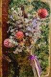 Κλείστε επάνω την ανθοδέσμη των ξηρών λουλουδιών Στοκ Εικόνες