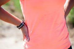 Κλείστε επάνω την εικόνα ενός θηλυκού athelte Στοκ φωτογραφία με δικαίωμα ελεύθερης χρήσης