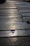 Κλείστε επάνω την ξύλινη γέφυρα Στοκ φωτογραφία με δικαίωμα ελεύθερης χρήσης
