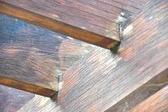Κλείστε επάνω την ξύλινη σύσταση στο gazebo Στοκ Εικόνα