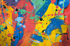 Κλείστε επάνω της ζωηρόχρωμης απλά αφηρημένης ζωγραφικής Στοκ Φωτογραφία