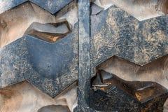 Κλείστε επάνω της παλαιάς σύστασης βήματος ροδών Στοκ Εικόνες