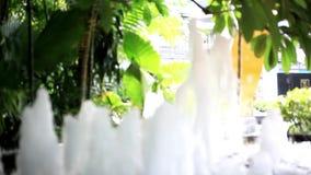 Κλείστε επάνω της πηγής στο πάρκο πόλεων Μακροεντολή HD φιλμ μικρού μήκους