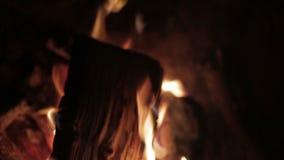 Κλείστε επάνω της πυρκαγιάς, defocus απόθεμα βίντεο