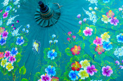 Κλείστε επάνω της ταϊλανδικής ομπρέλας εγγράφου Στοκ φωτογραφία με δικαίωμα ελεύθερης χρήσης