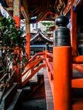Κλείστε επάνω τη λεπτομέρεια της ιαπωνικής λάρνακας Στοκ Φωτογραφίες