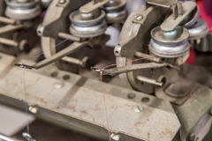 Κλείστε επάνω τη λεπτομέρεια της μηχανής τηλεγράφησης Στοκ Φωτογραφίες