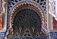 Κλείστε επάνω τη λεπτομέρεια των διακοσμητικών archs στο ασιατικό ύφος Στοκ Φωτογραφία