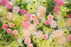 Κλείστε επάνω τη ζωηρόχρωμη σύσταση λουλουδιών Στοκ φωτογραφία με δικαίωμα ελεύθερης χρήσης
