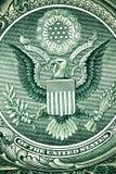 Κλείστε επάνω τη μακρο λεπτομέρεια των τραπεζογραμματίων χρημάτων δολαρίων τονισμένος Στοκ Φωτογραφίες