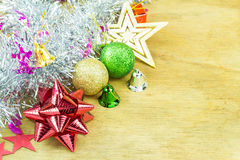 Κλείστε επάνω τη συλλογή Χριστουγέννων στο ξύλο Στοκ φωτογραφίες με δικαίωμα ελεύθερης χρήσης
