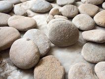 Κλείστε επάνω τη σύσταση υποβάθρου βράχου πετρών Στοκ Εικόνες