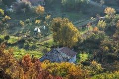 Κλείστε επάνω τη φωτογραφία της αγροτικής σκηνής, εποχιακό φυσικό θέμα Στοκ εικόνα με δικαίωμα ελεύθερης χρήσης