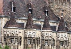 Κλείστε επάνω τη φωτογραφία του κάστρου Vajdahunyad στη Βουδαπέστη, Ουγγαρία, archi Στοκ εικόνα με δικαίωμα ελεύθερης χρήσης