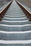 Κλείστε επάνω τις διαδρομές σιδηροδρόμων Στοκ Φωτογραφίες