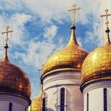 Κλείστε επάνω τον καθεδρικό ναό Annunciation στο Κρεμλίνο, Μόσχα, Ρωσία Στοκ φωτογραφίες με δικαίωμα ελεύθερης χρήσης