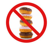 Κλείστε επάνω του βερνικωμένου donuts σωρού πίσω από κανένα σύμβολο στοκ φωτογραφίες με δικαίωμα ελεύθερης χρήσης