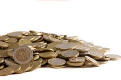 Κλείστε επάνω του ευρο- σωρού νομισμάτων Στοκ φωτογραφία με δικαίωμα ελεύθερης χρήσης