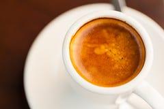 Κλείστε επάνω του καυτού καφέ (espresso) Στοκ εικόνα με δικαίωμα ελεύθερης χρήσης