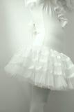 Κλείστε επάνω του μικρού κοριτσιού σωμάτων που φορά το φόρεμα μπαλέτου Στοκ φωτογραφία με δικαίωμα ελεύθερης χρήσης