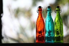 Κλείστε επάνω του μπουκαλιού γυαλιού Στοκ φωτογραφία με δικαίωμα ελεύθερης χρήσης