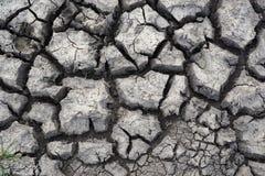 Κλείστε επάνω του ξηρού, ραγισμένου χώματος στοκ φωτογραφία με δικαίωμα ελεύθερης χρήσης