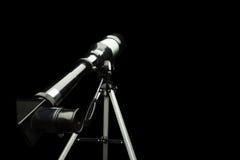 Κλείστε επάνω του προσοφθαλμίου τηλεσκοπίων πέρα από το Μαύρο Στοκ φωτογραφία με δικαίωμα ελεύθερης χρήσης